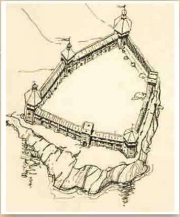 Хортицький замок Байди, середина 16 ст.
