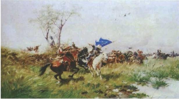 Ю. Брандт. «Атака кавалерії»